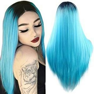 Hombre Blue Beauty Full Wig